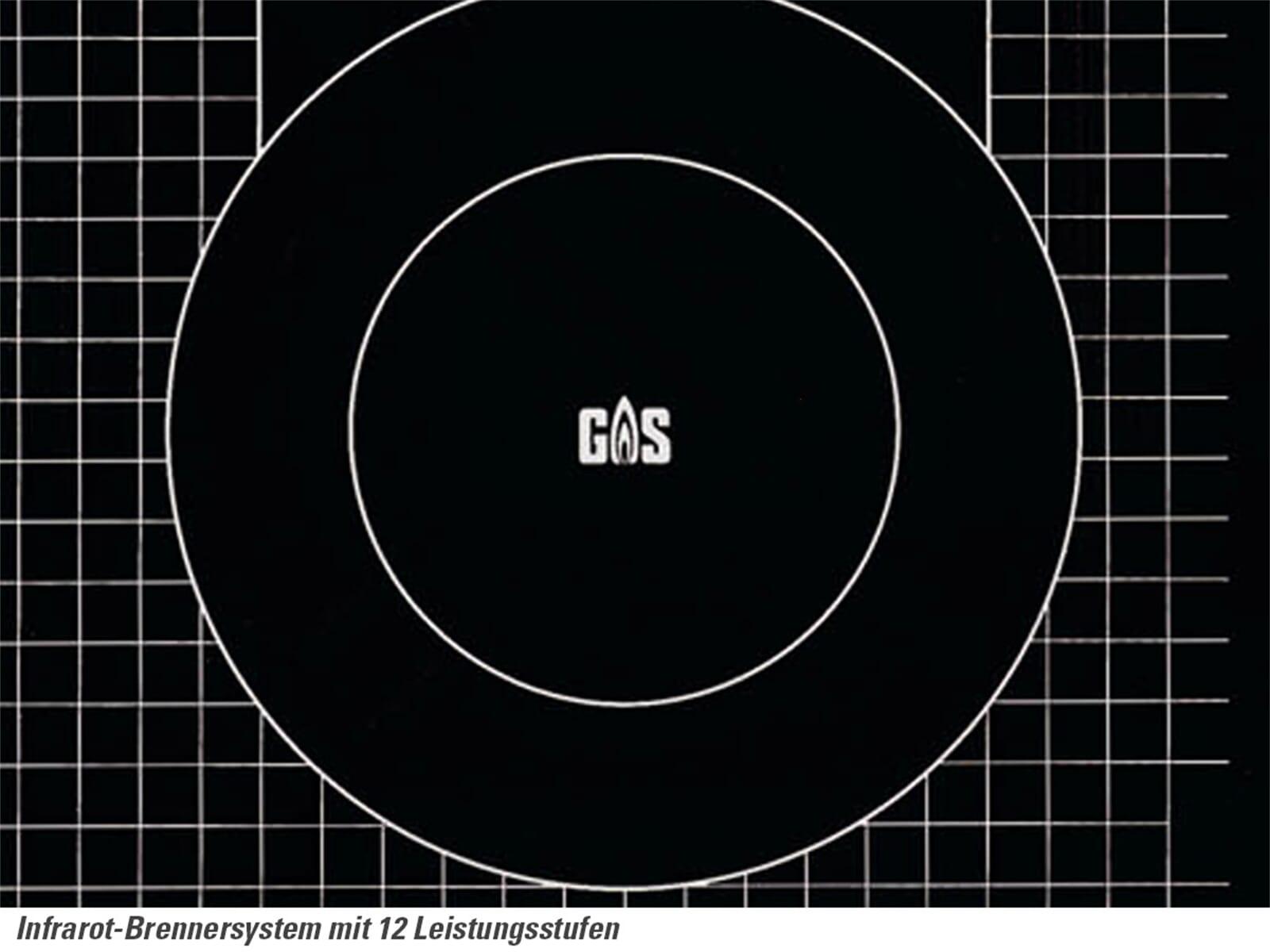 Oranier EKG 2736 - 2736 14 Glaskeramik Gaskochfeld autark