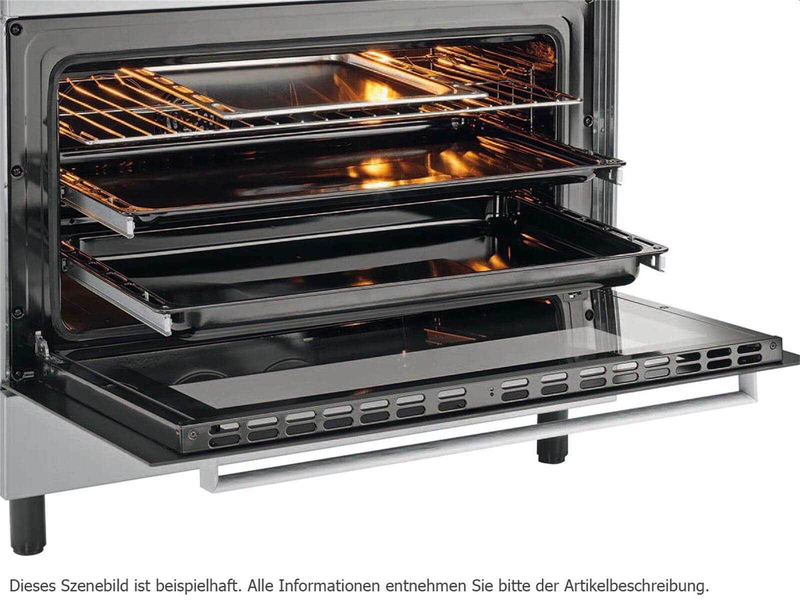 Oranier FZE 1499 - 1499 24 Gas Standherd Edelstahl