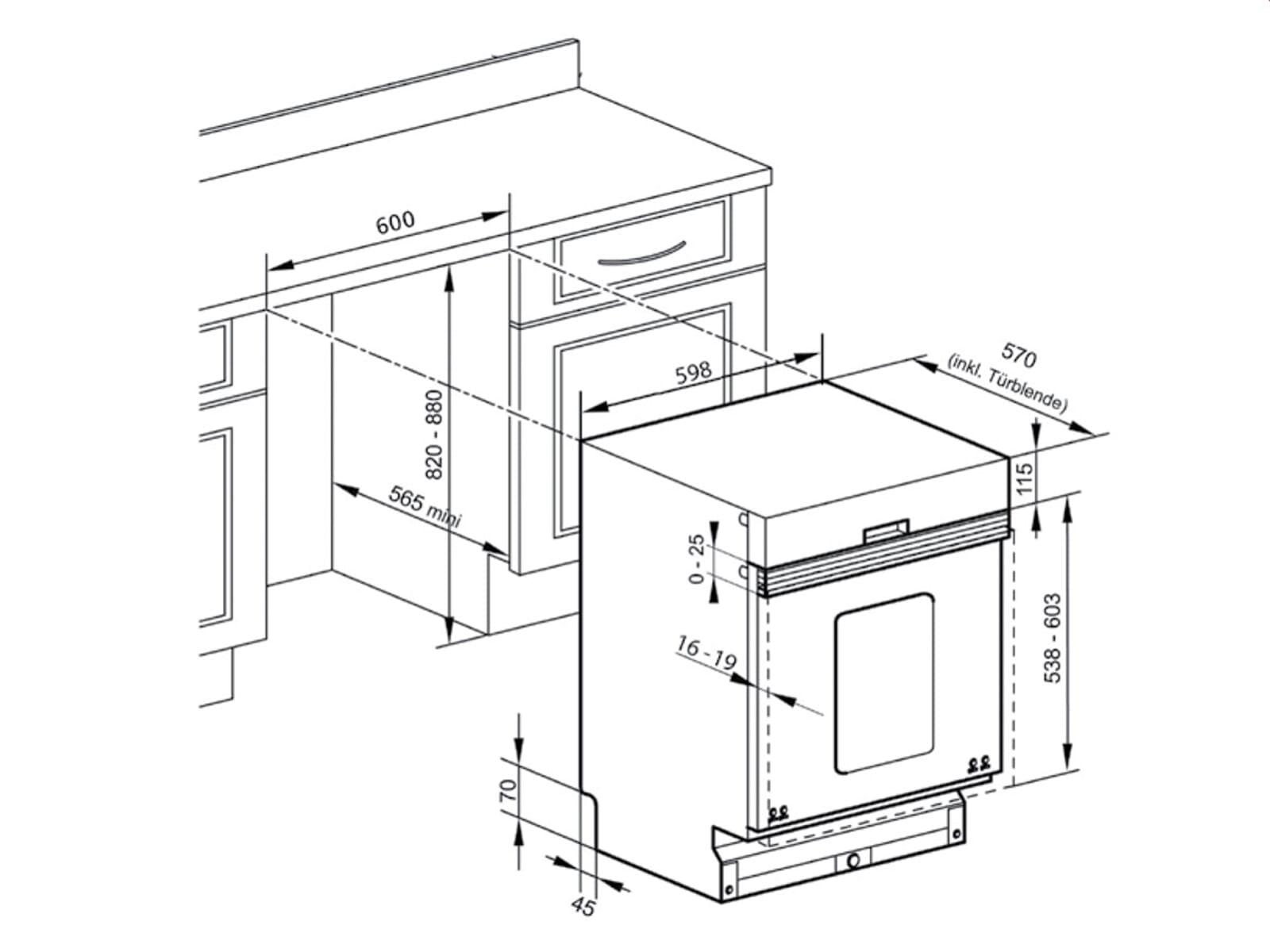 Oranier GAB 7580 - 7580 63 Teillintegrierbarer Einbaugeschirrspüler