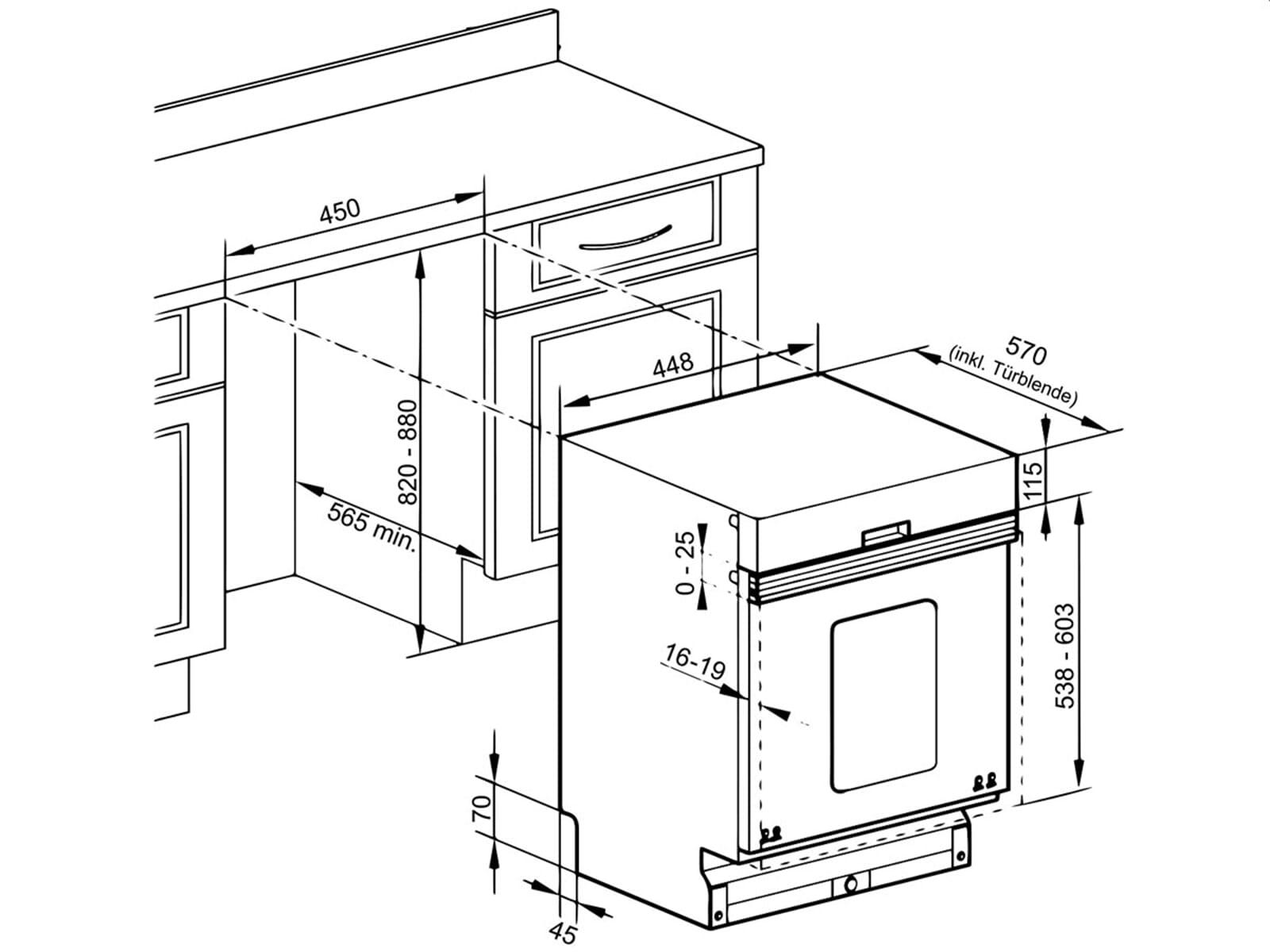 Oranier GAB 7581 - 7581 47 Teillintegrierbarer Einbaugeschirrspüler