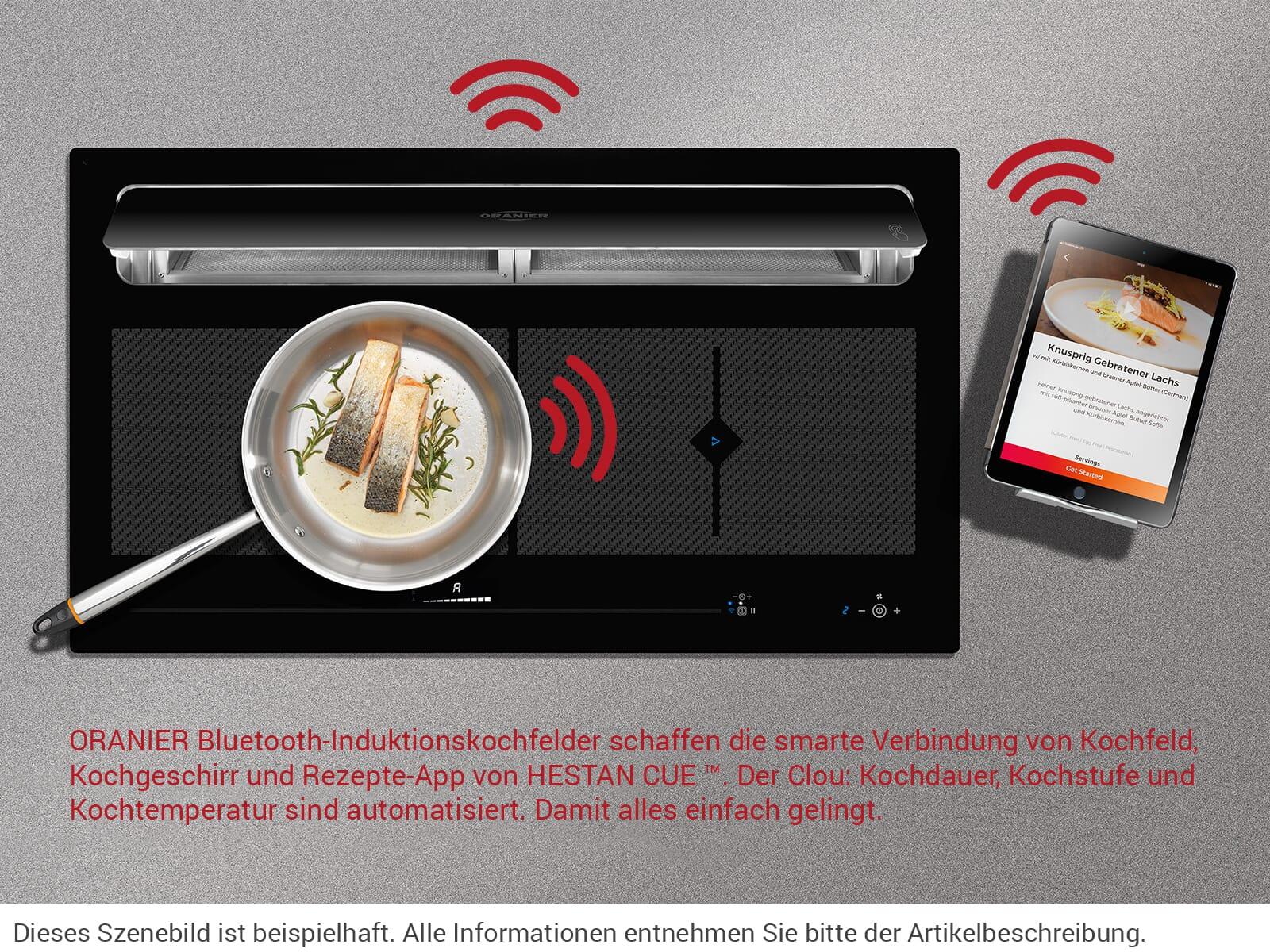 Oranier KFL 2094 be-cook - 2094 56 Induktionskochfeld-Dunstabzug-Kombination Abluft