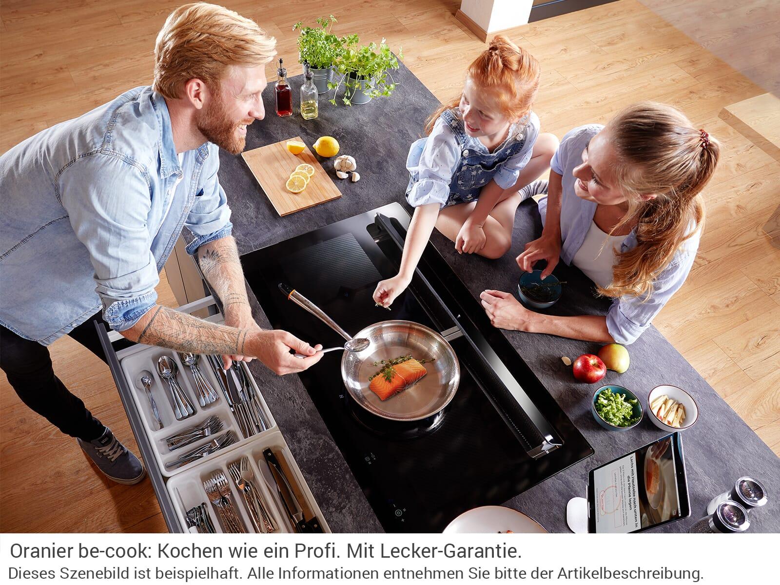 Oranier kfl 2094 be cook 2094 76 induktionskochfeld dunstabzug