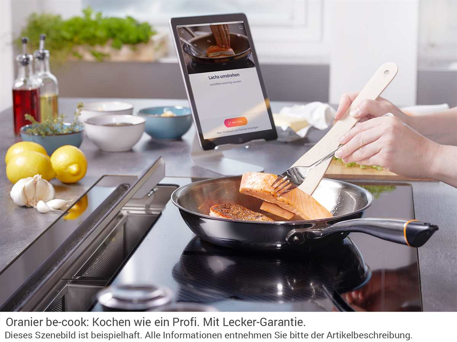 Oranier kfl be cook induktionskochfeld dunstabzug