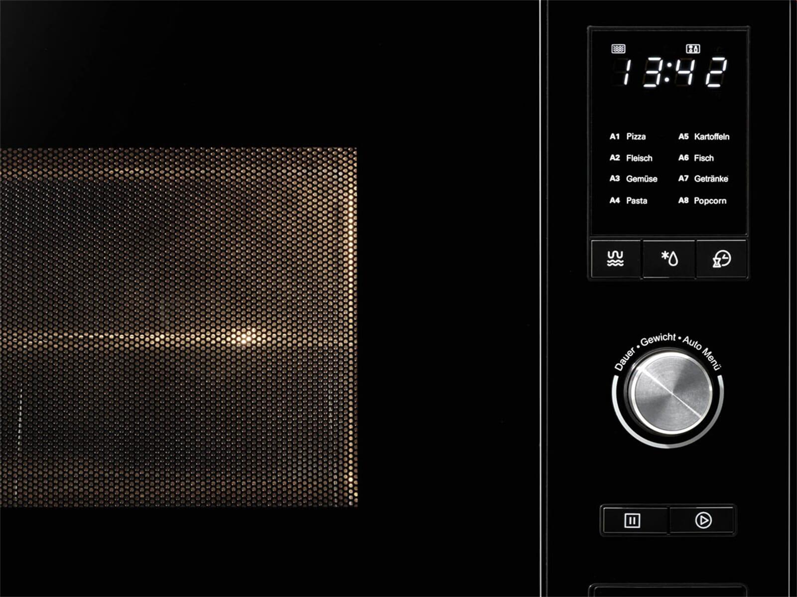 Oranier KMG 9802 - 9802 10 Einbau-Mikrowelle mit Grill Edelstahl/Schwarz