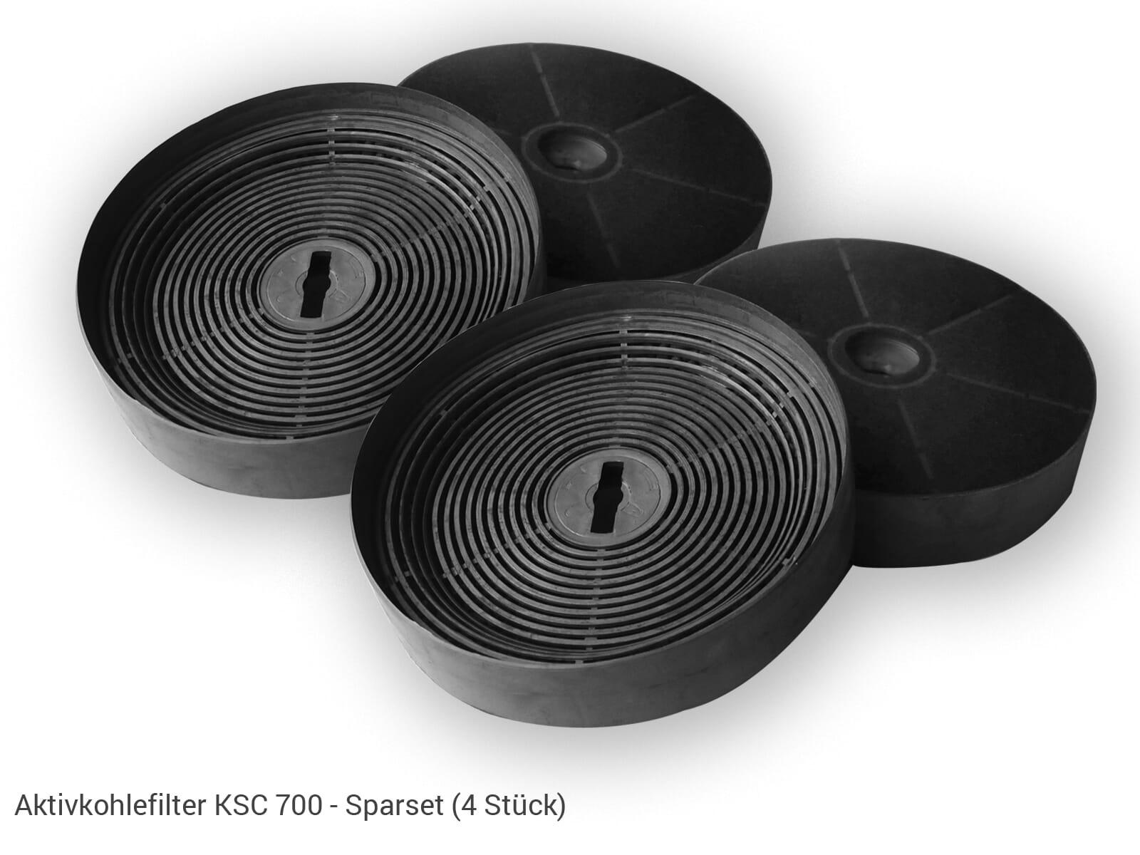 Oranier KSC 700 Aktiv-Kohlefilter Sparset (4 Stück)