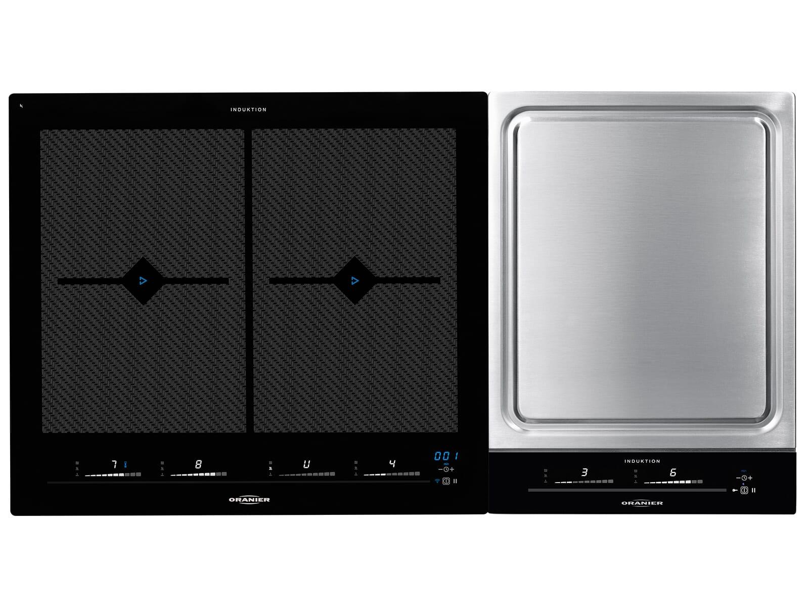 Oranier Set FLI 2068 be-cook - 2068 12 Domino Induktionskochfeld + TY 2738 SL+ - 2738 10 Domino Kochfeld Teppan Yaki