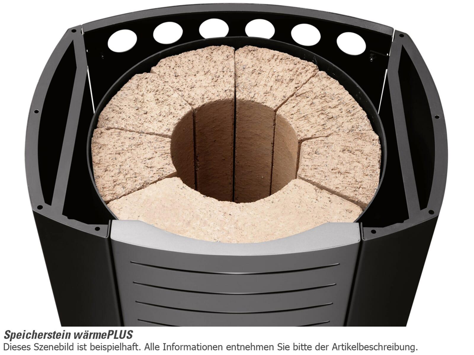 Oranier Arena Plus - 4895 42 Kaminofen Stahl Schwarz Abdeckplatte Sandstein