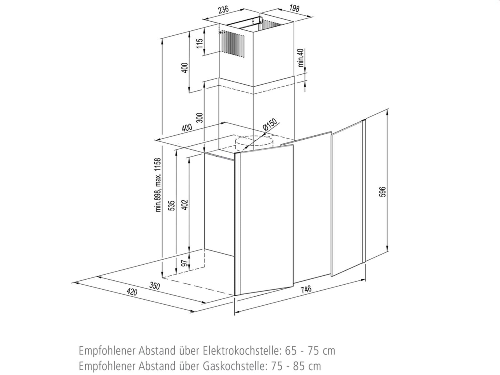 Oranier Stella 75 W - 8754 15 Kopffreihaube 75 cm Edelstahl/Weiß
