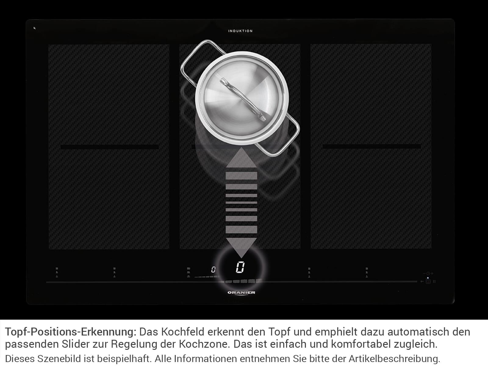 Oranier FLI 2038 be-cook - 2038 12 Domino Induktionskochfeld autark