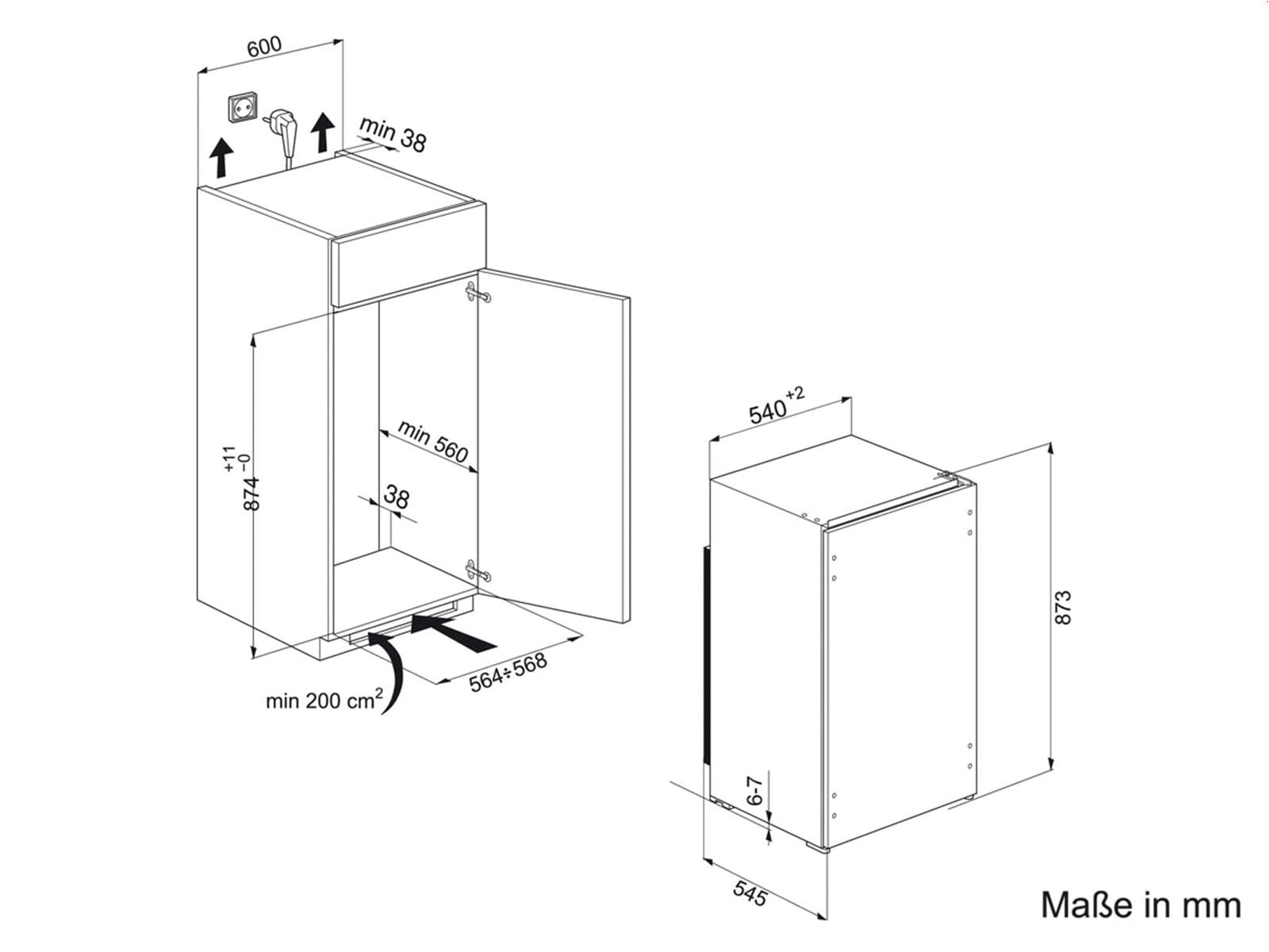 Privileg PRC 450 A+ Einbaukühlschrank