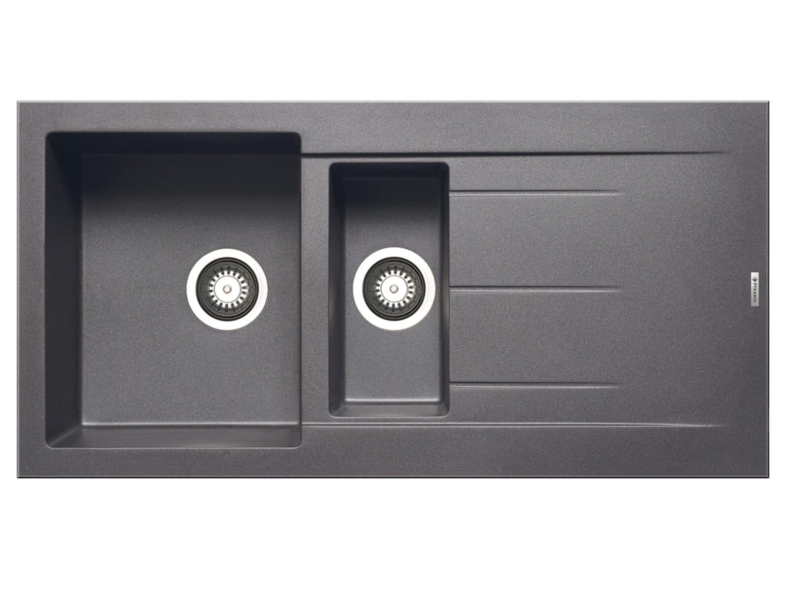 Pyramis Alazia (100x50) 1 1/2B 1D Iron Grey Granitspüle