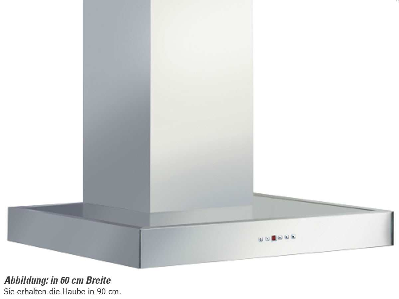 Pyramis Saldo 90 Wandhaube 90 cm Edelstahl