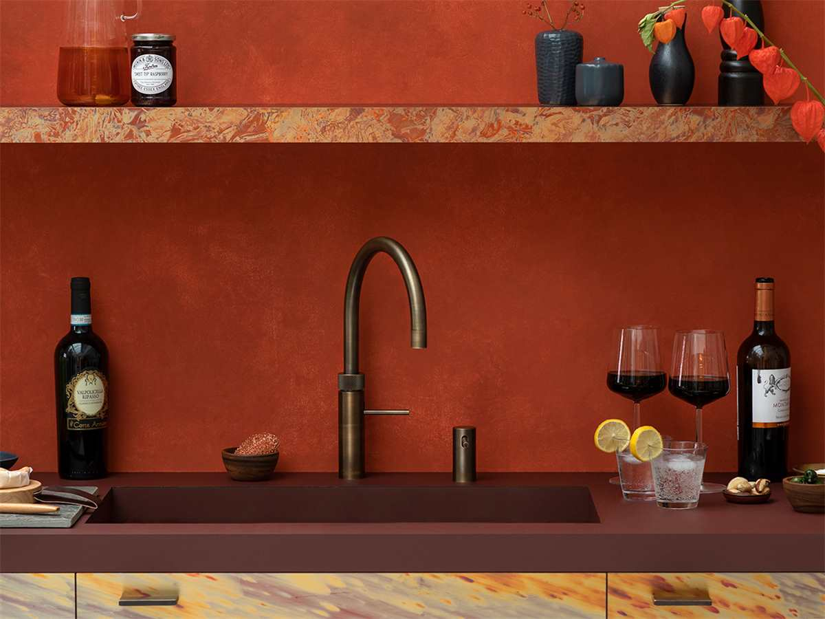 Quooker COMBI+ 2.2 E & CUBE | Fusion Round PTN (Messing Patina)