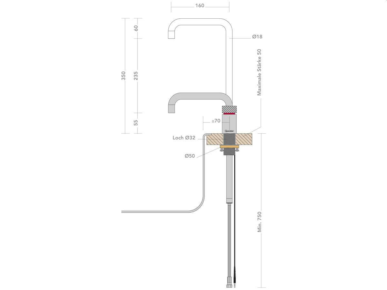 Quooker COMBI 2.2 E & CUBE | Nordic Square RVS (Voll-Edelstahl)