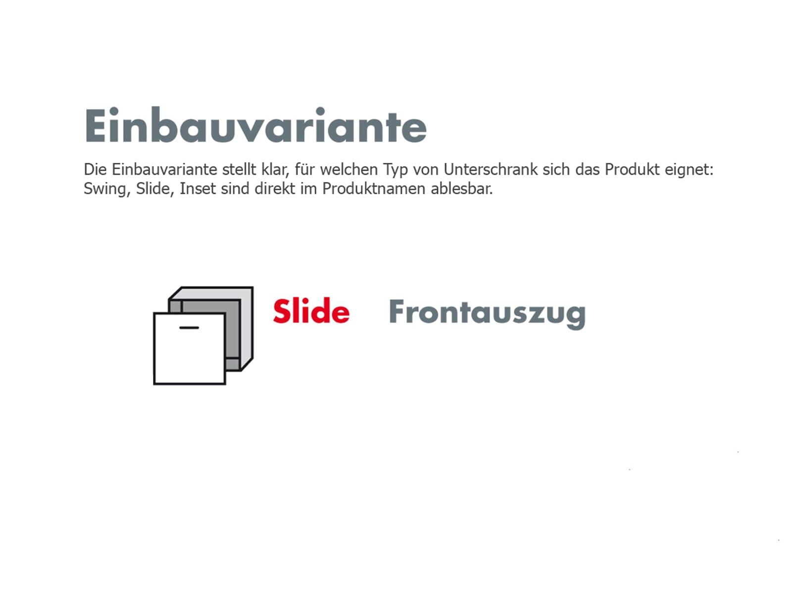 Hailo Cargo-Soft Slide 50.3/35 Einbau Abfallsammler