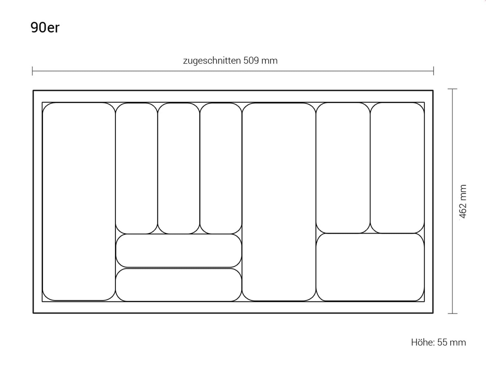 dirks besteckeinsatz combi 90er breite. Black Bedroom Furniture Sets. Home Design Ideas