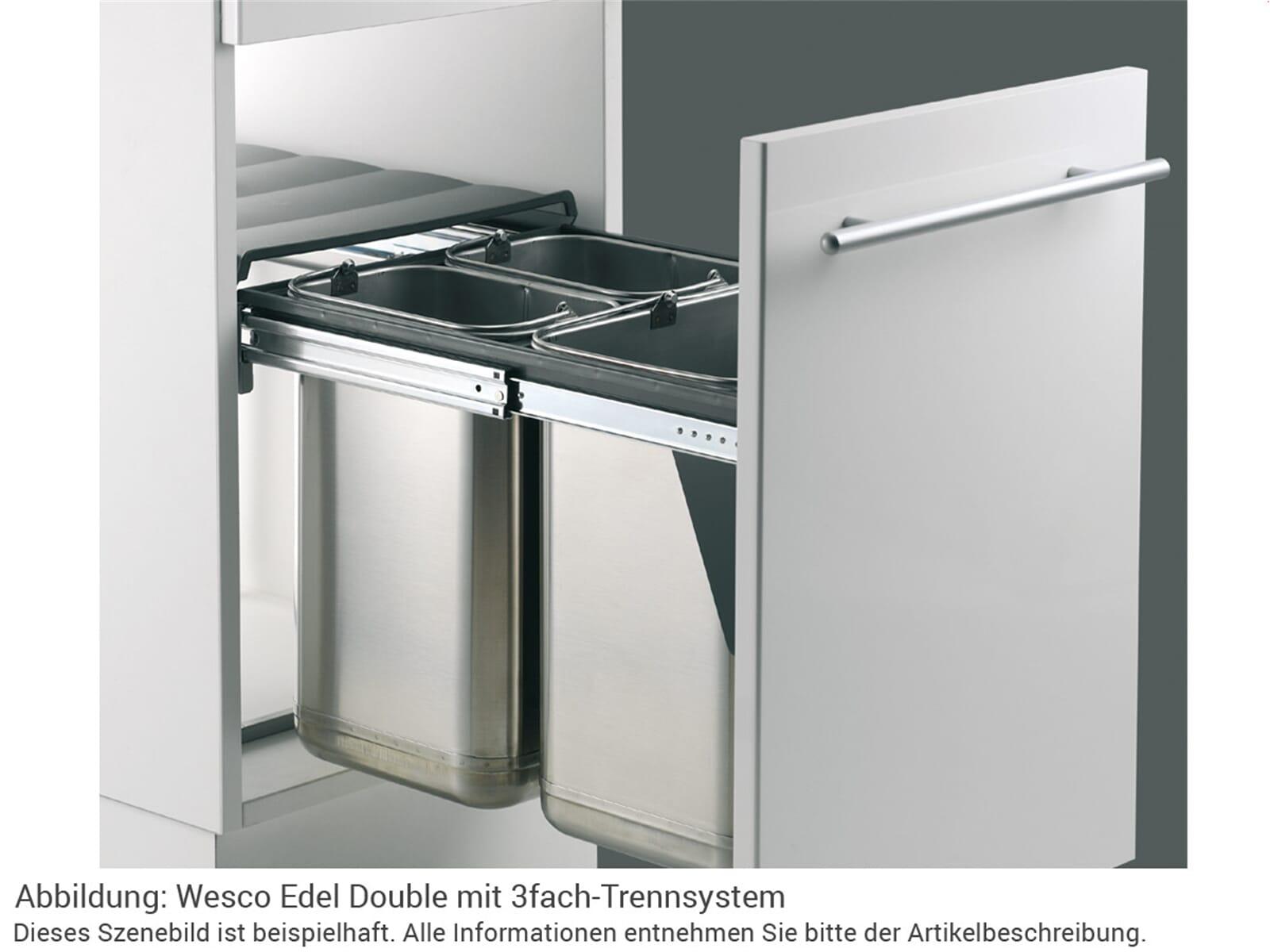 wesco edel double 785304 42 einbau abfallsammler edelstahl. Black Bedroom Furniture Sets. Home Design Ideas