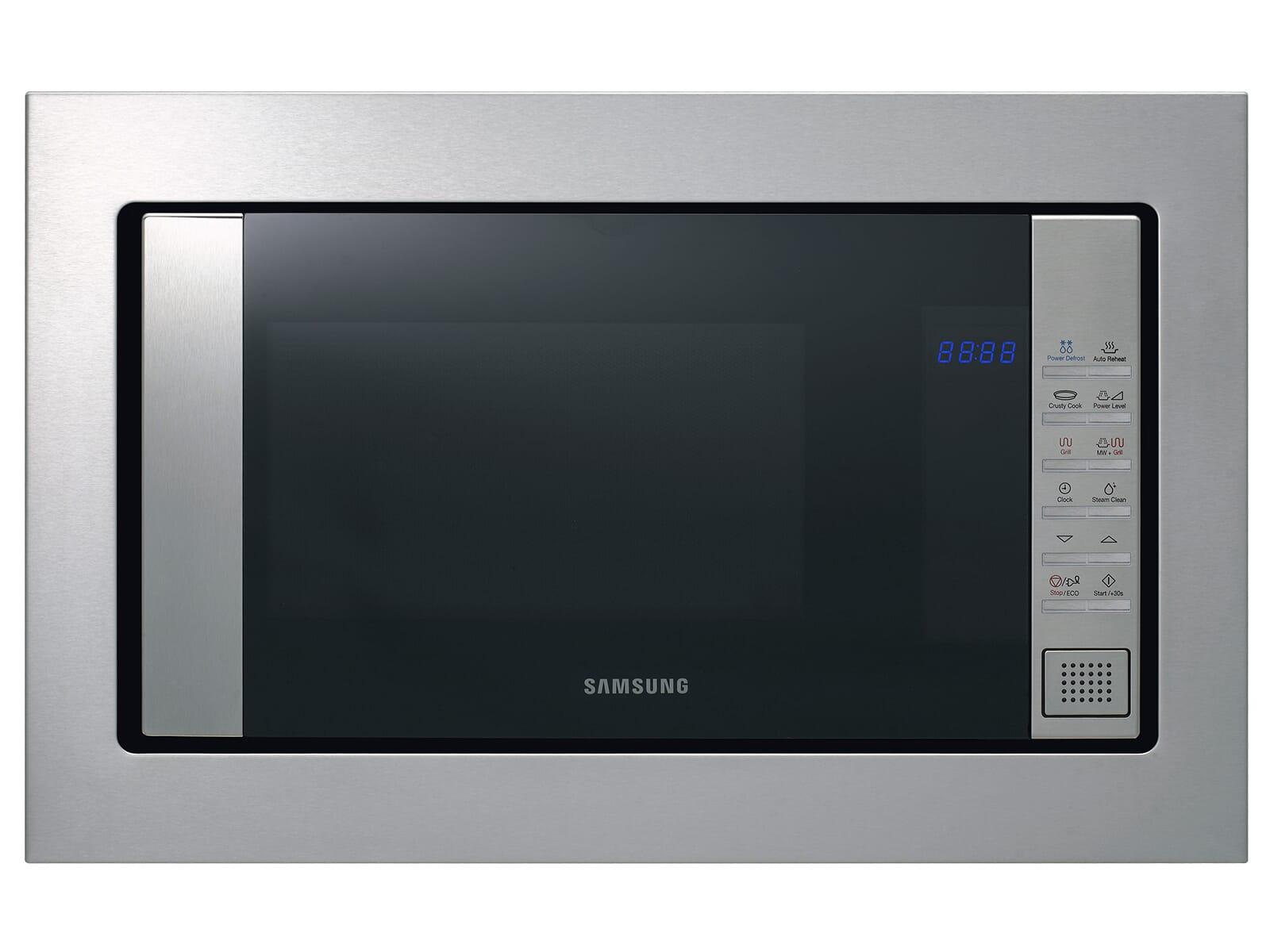 Samsung FG87SUST/EG Einbau-Mikrowelle mit Grill Silber