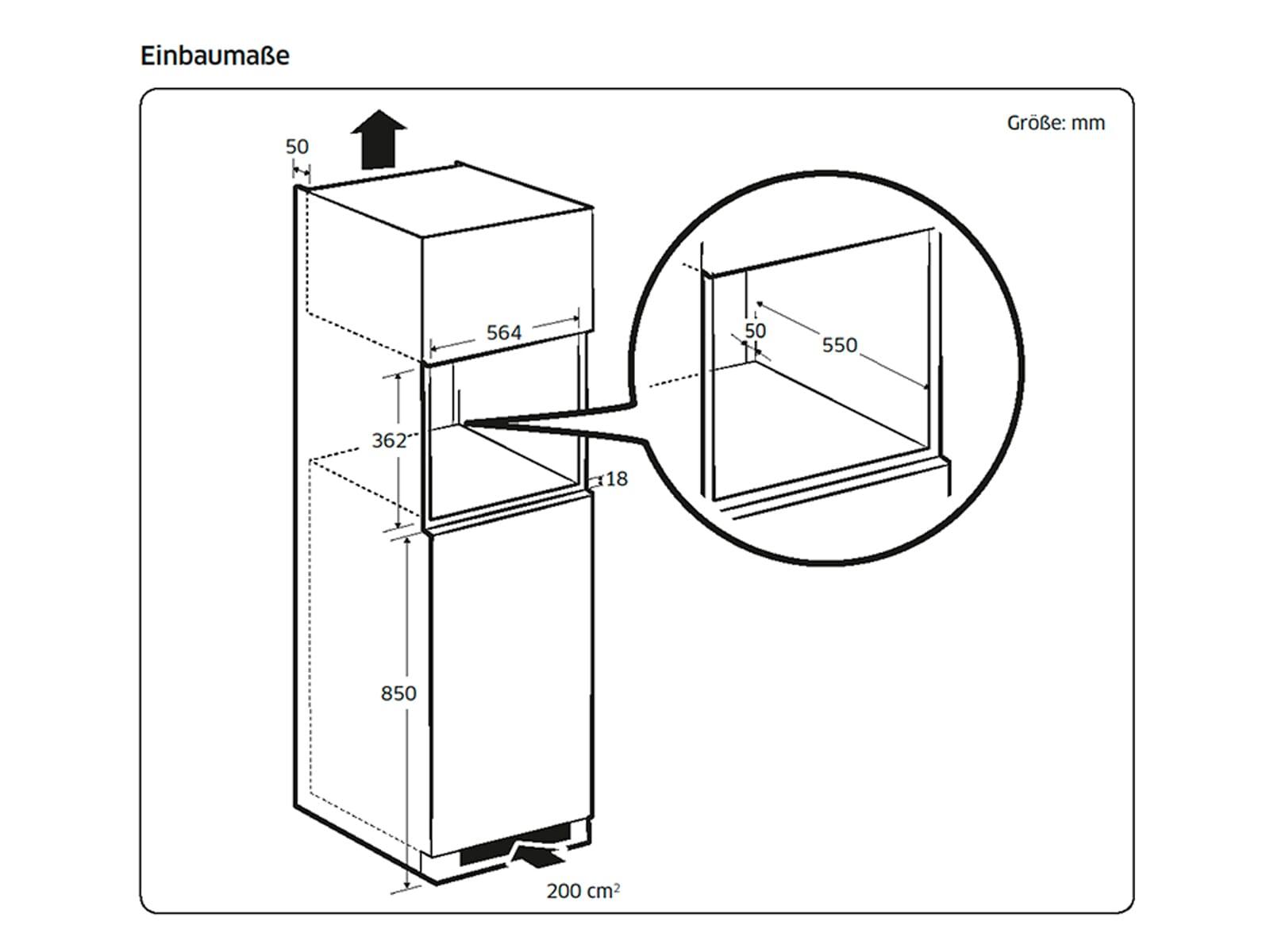 Samsung MG22M8074AT/EG Einbau-Mikrowelle mit Grill Edelstahl