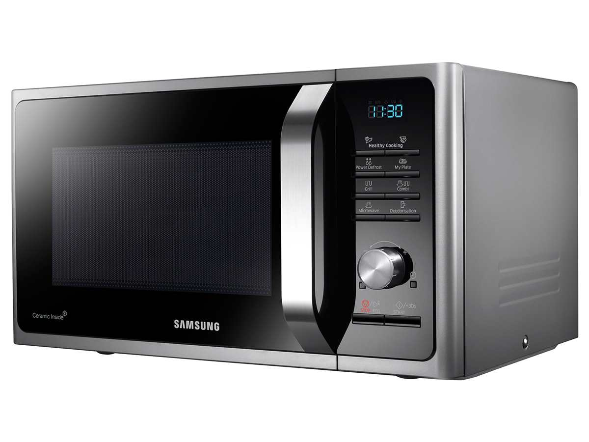 Samsung MG28F303TCS/EG Stand-Mikrowelle mit Grill Silber