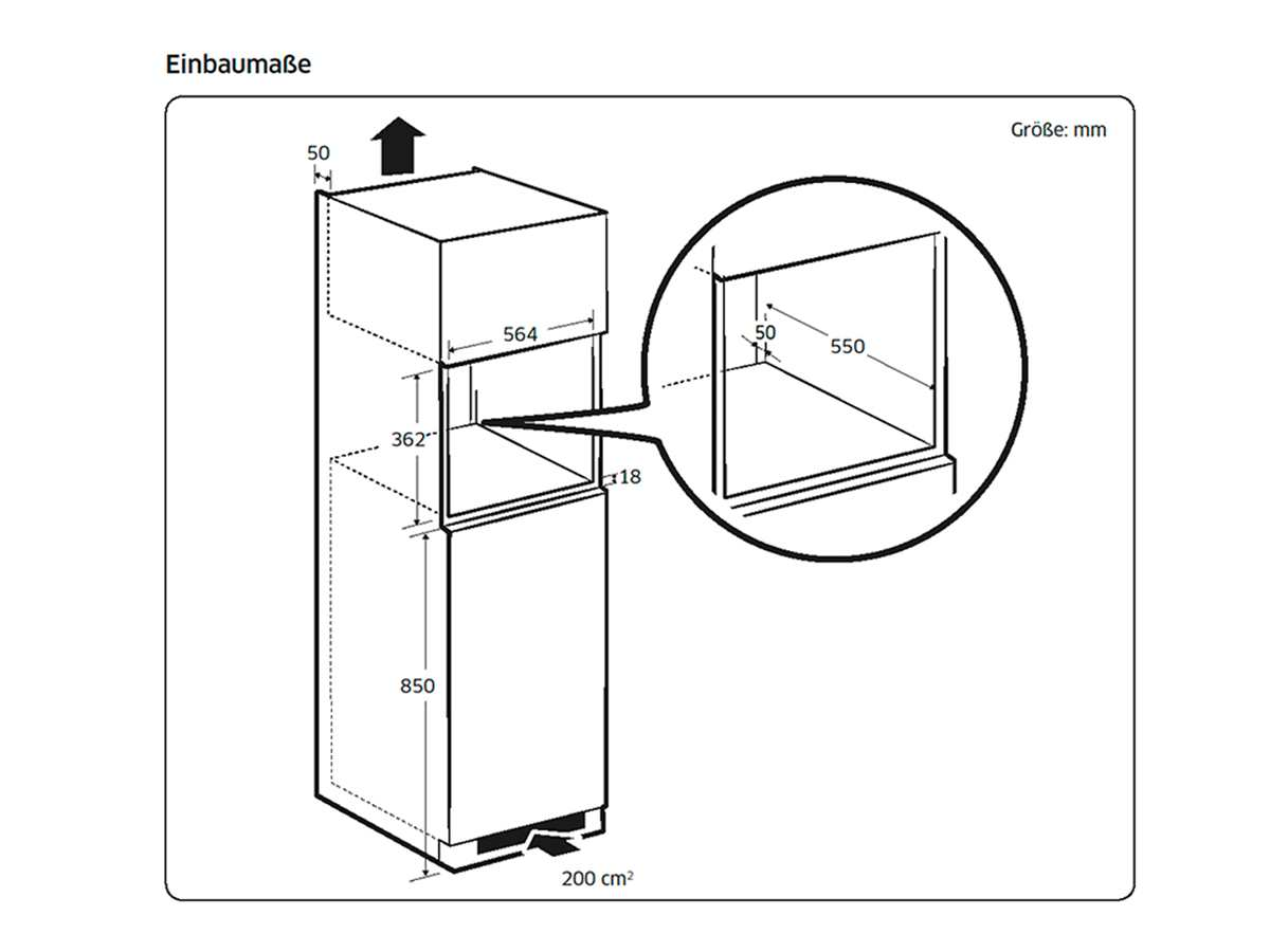 Samsung MS22M8074AT/EG Einbau-Mikrowelle Edelstahl