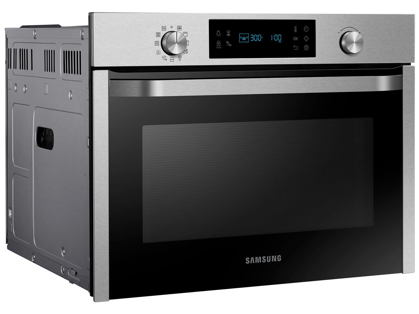 Samsung NQ50J3530BS/EG Kompaktbackofen mit Mikrowelle Edelstahl