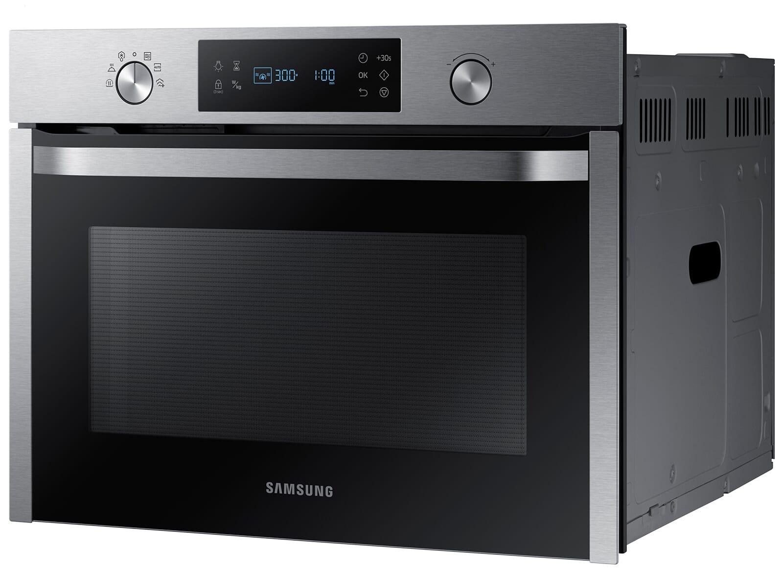 Samsung NQ50K3130BS/EG Einbau-Mikrowelle mit Dampfgarfunktionen Edelstahl