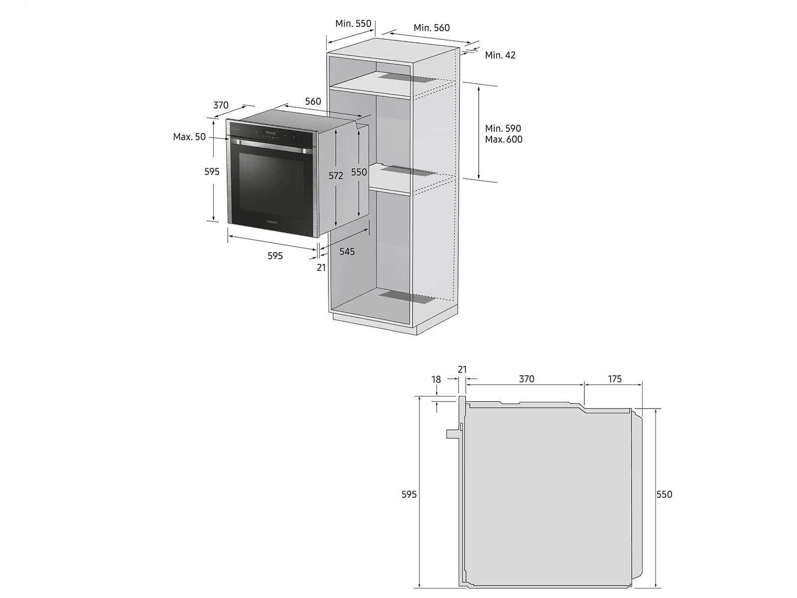 Samsung NV75K5571BS/EG Pyrolyse Backofen Edelstahl