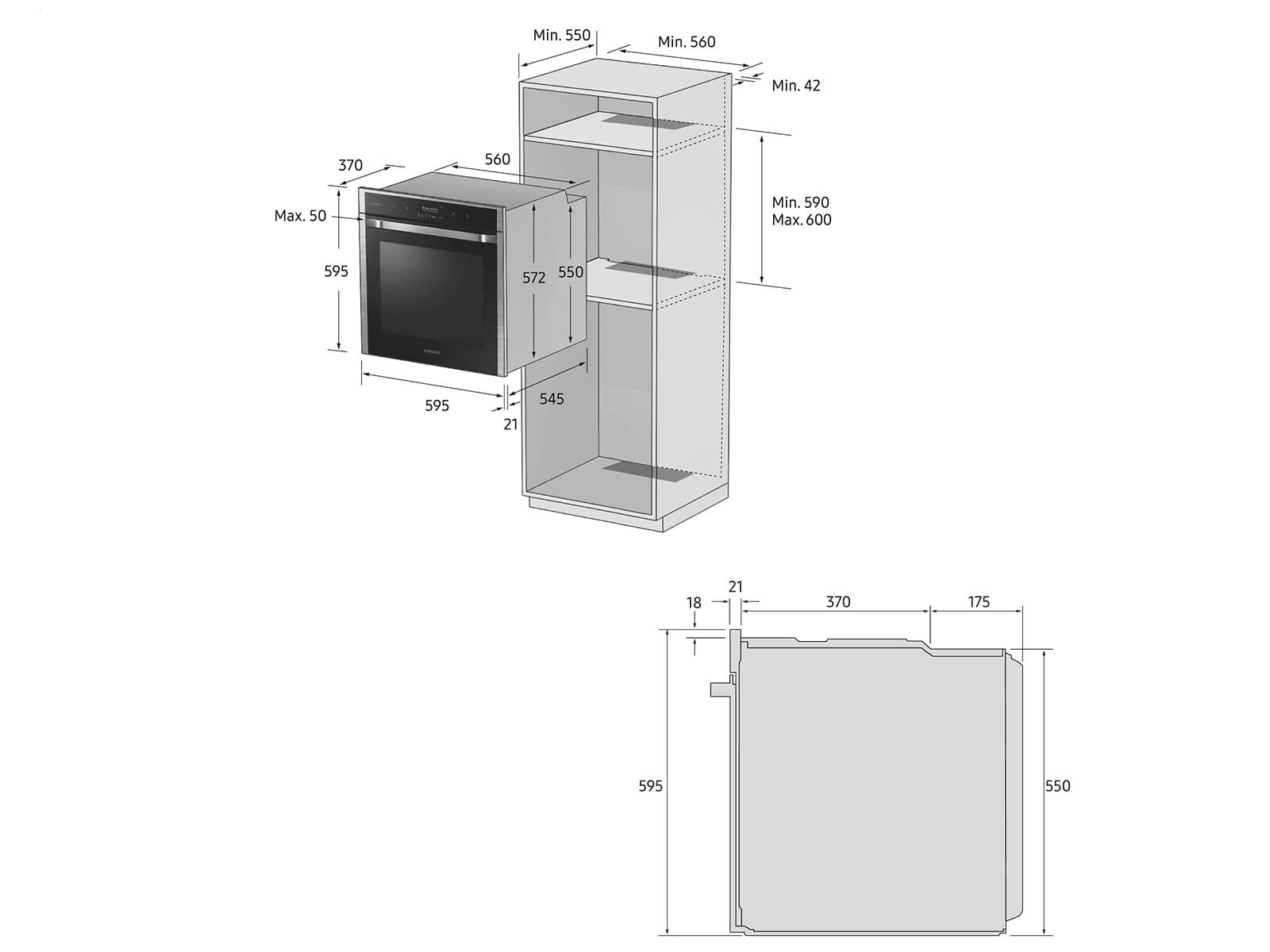 Samsung NV75N7677RS/EG Pyrolyse Backofen Edelstahl