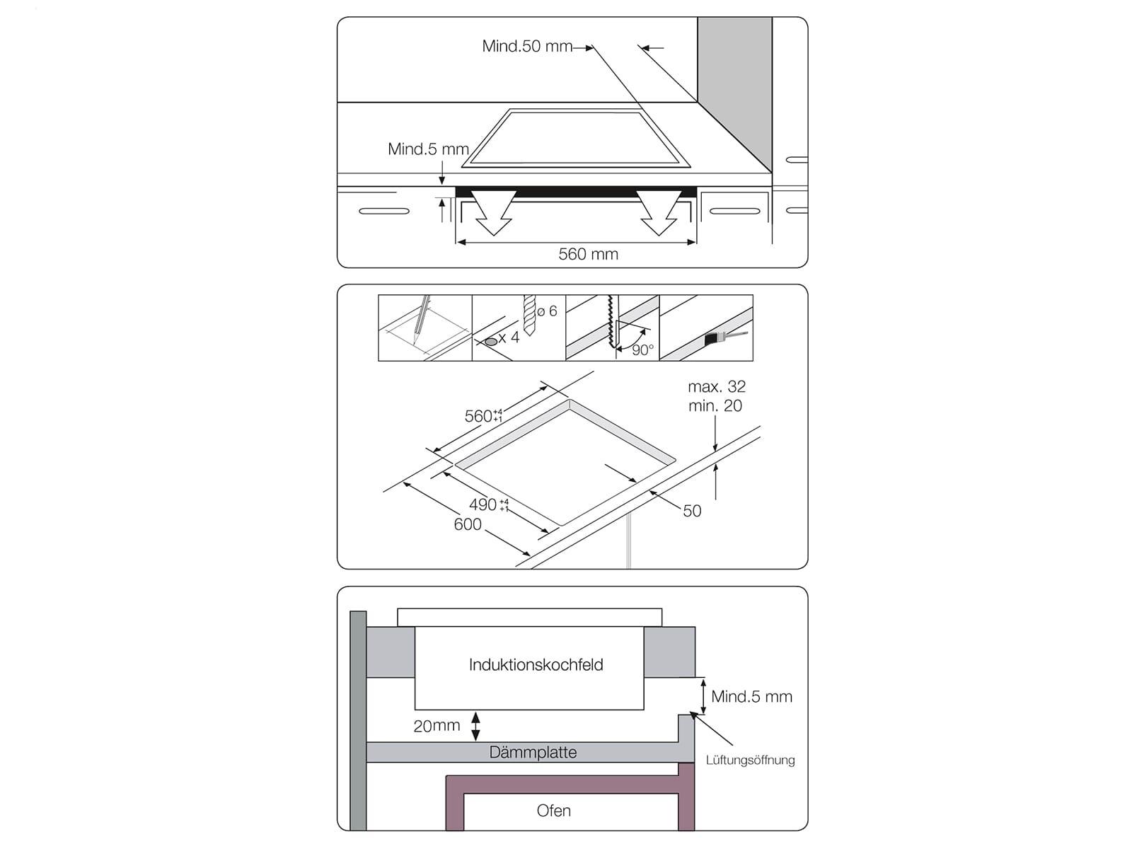 Samsung NZ64M3NM1BB/UR Induktionskochfeld autark