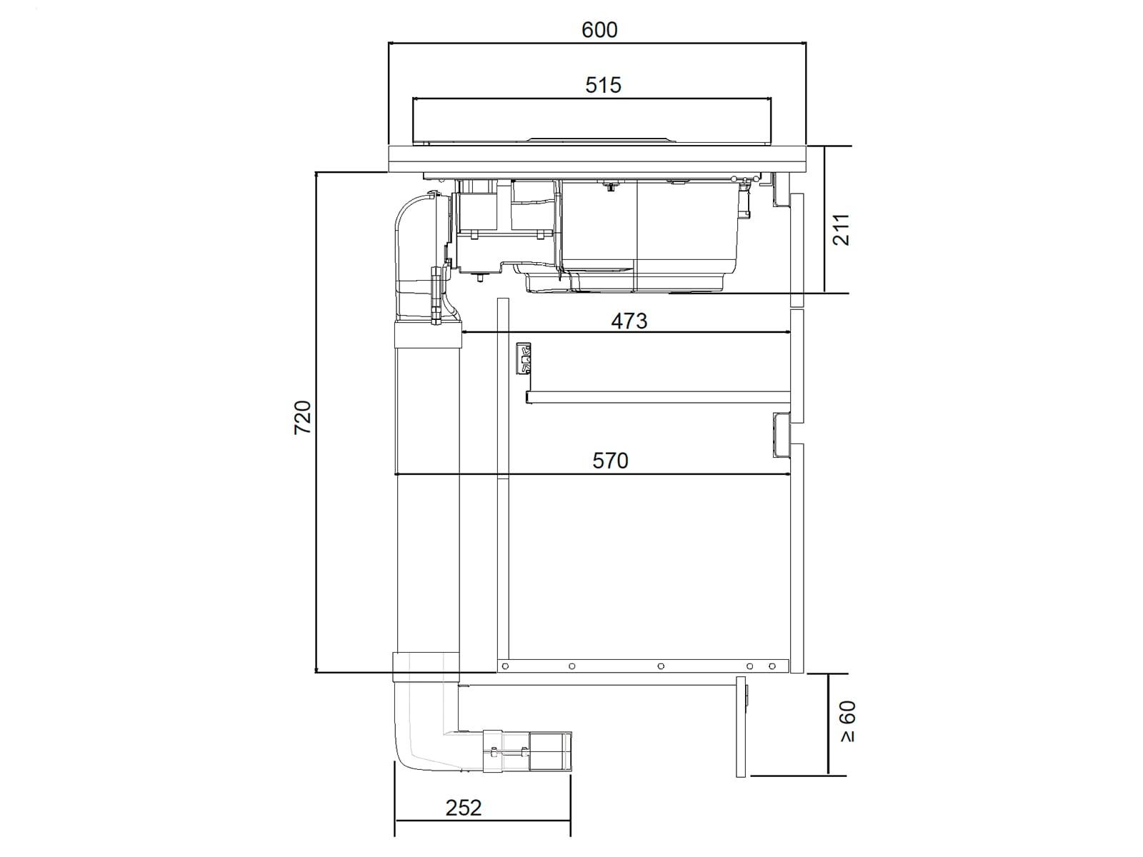 Samsung NZ84T9747UK/UR Induktionskochfeld-Dunstabzug-Kombination