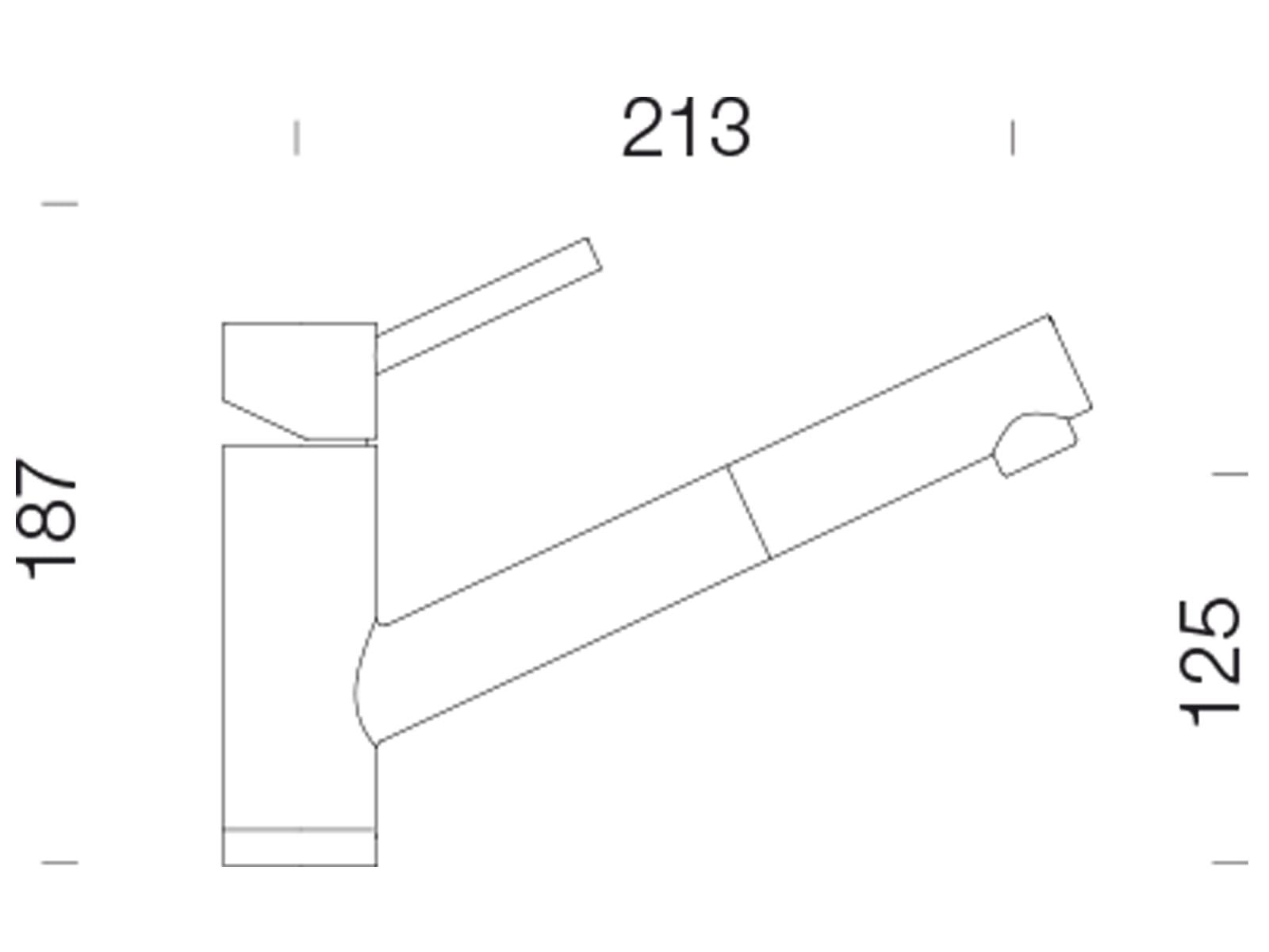 Schock Altos S Edelstahl massiv 530120EDM  Hochdruckarmatur