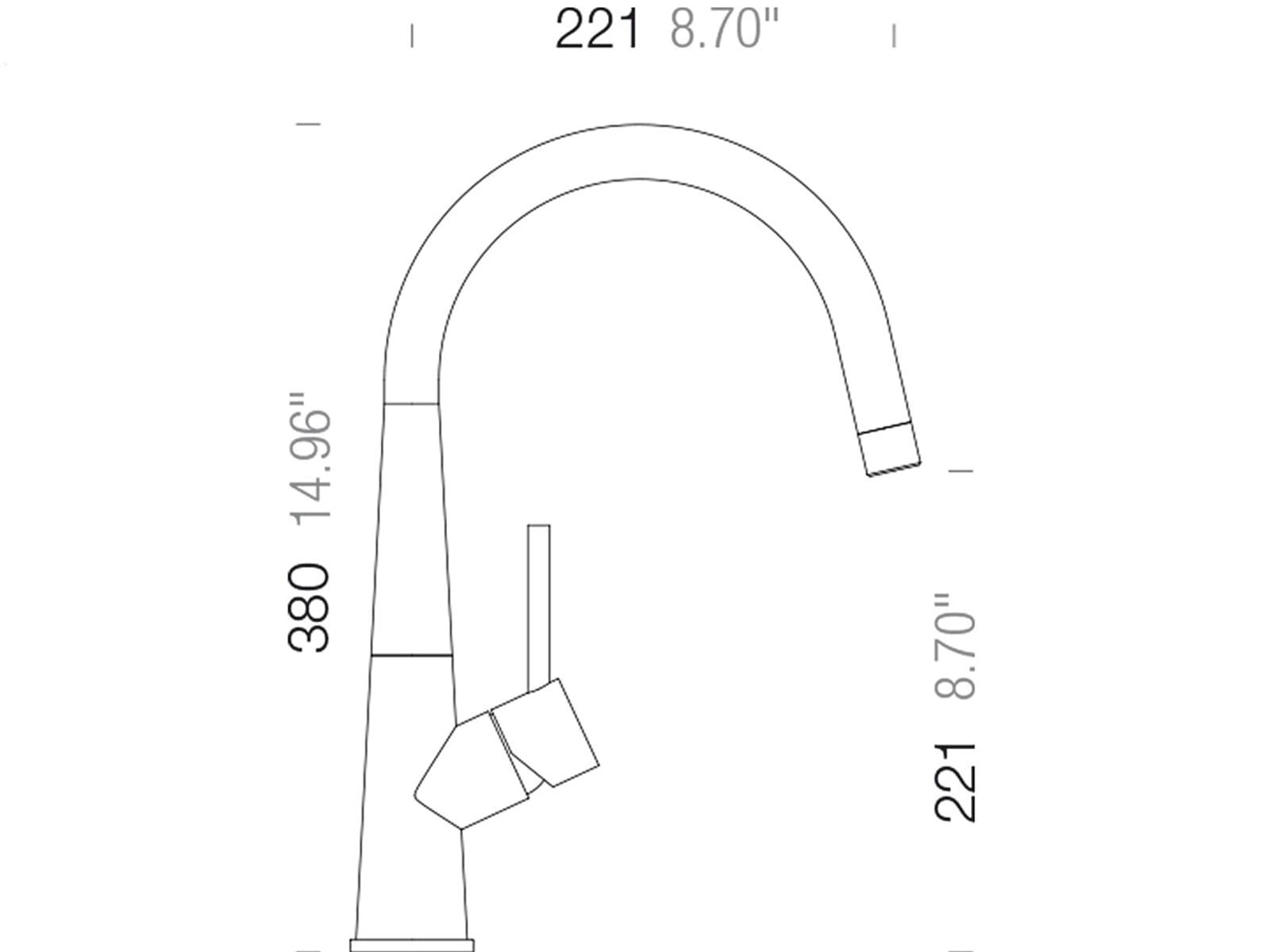 schock conos in edelstahl massiv hochdruckarmatur ebay. Black Bedroom Furniture Sets. Home Design Ideas