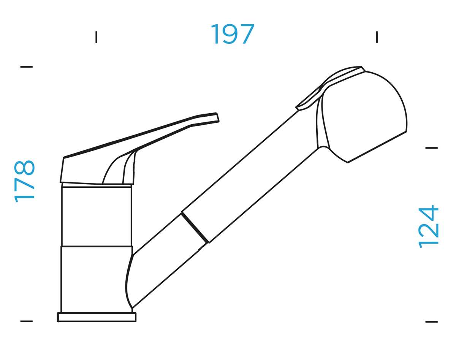 Schock Cosmo Onyx - 525122GON Hochdruckarmatur