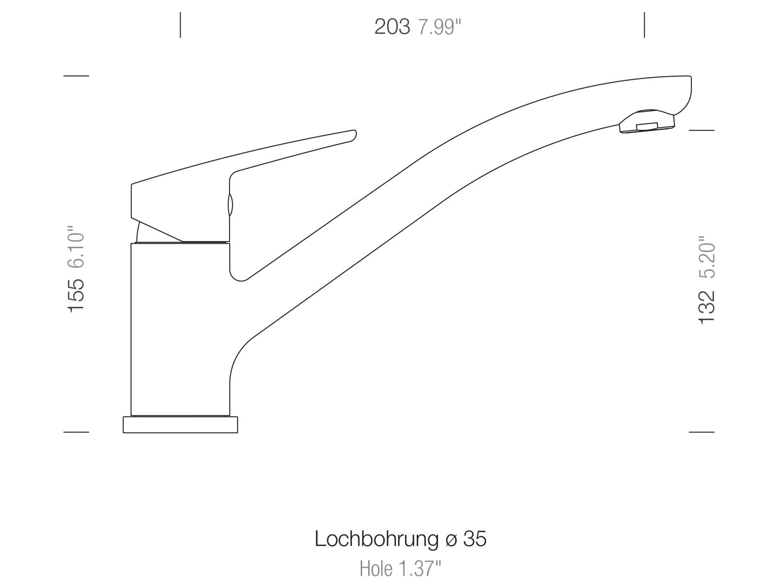Schock Daja Nero - 522000GNE Hochdruckarmatur