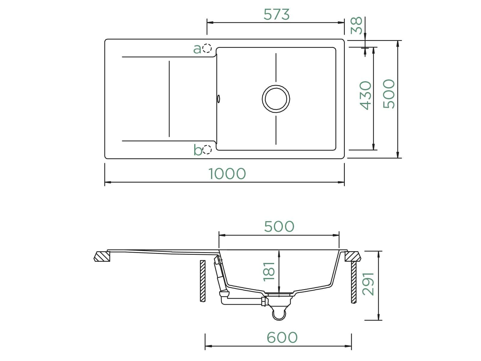 Schock Epure D-100L A Nero - EPUD100LAGNE Granitspüle