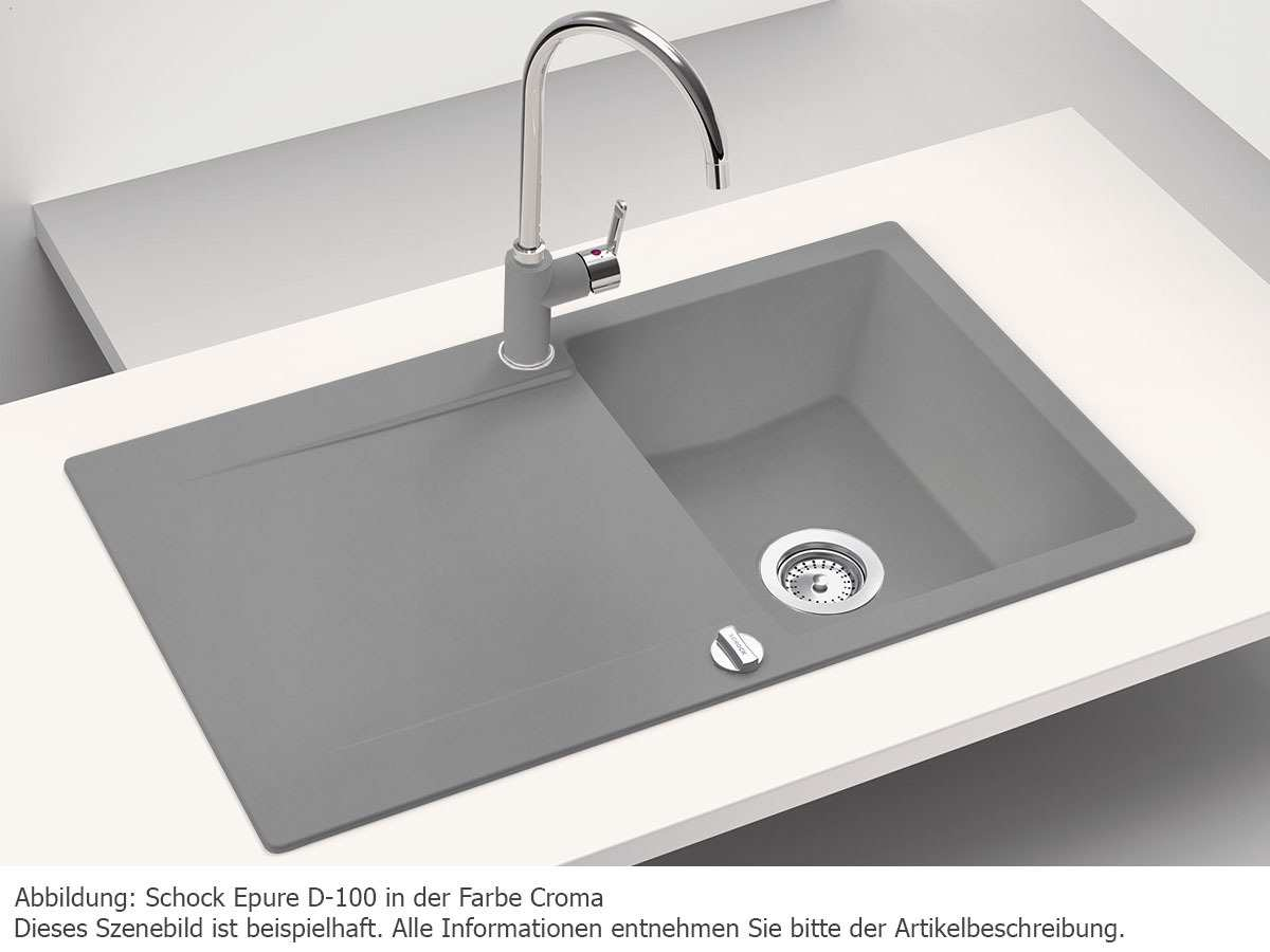 Schock Epure D-100 A Onyx Granitspüle