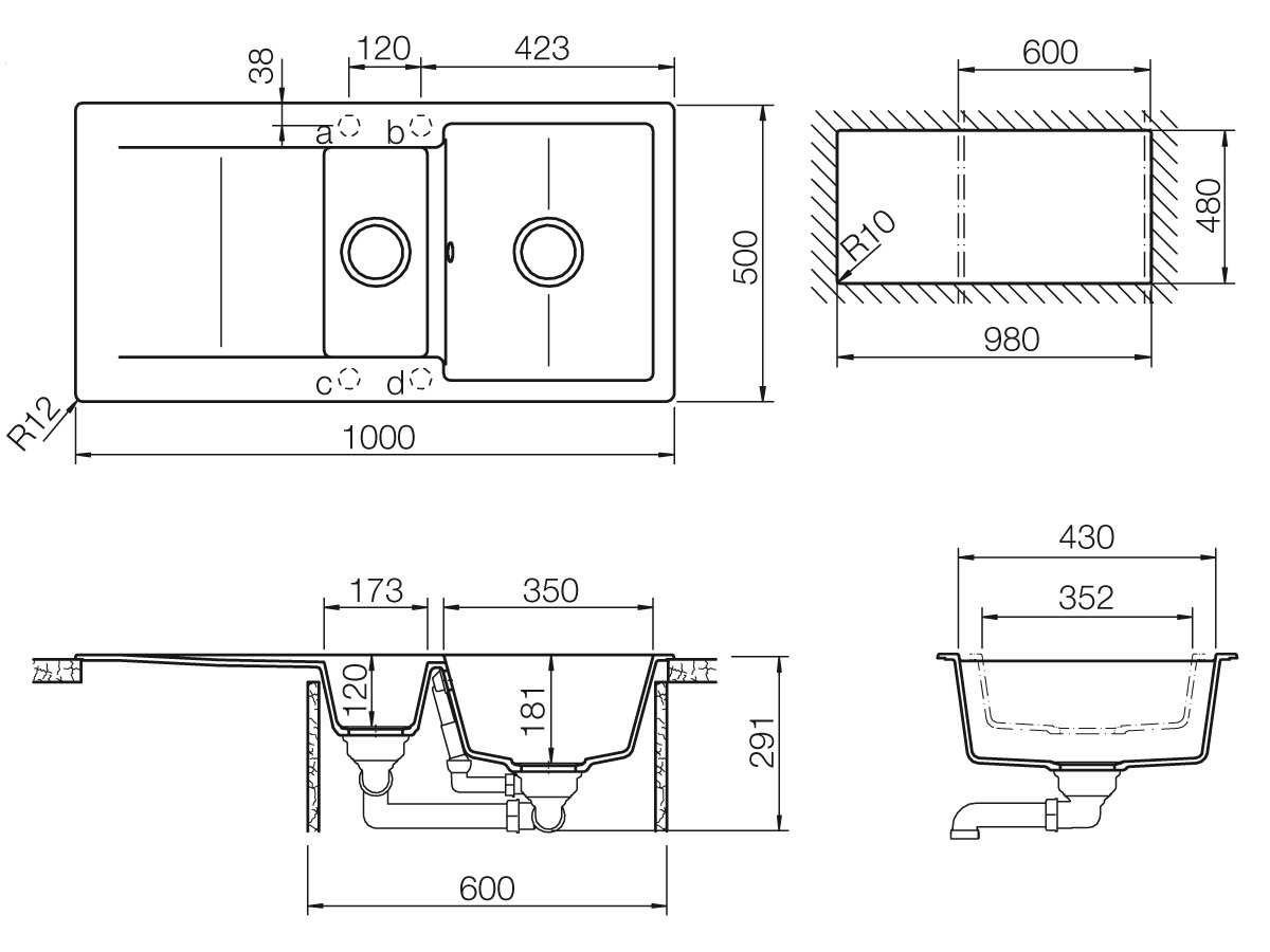 Schock Epure D-150 A Nero Granitspüle