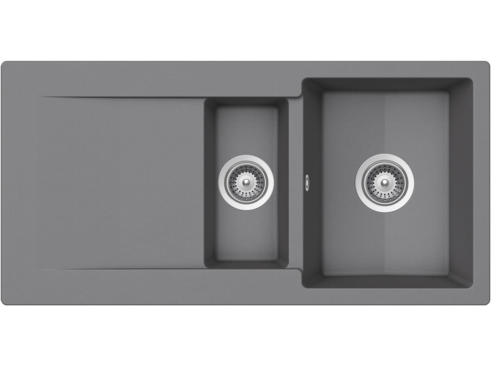 Draufsicht von Schock Epure D-150 A Croma Granit-Spüle