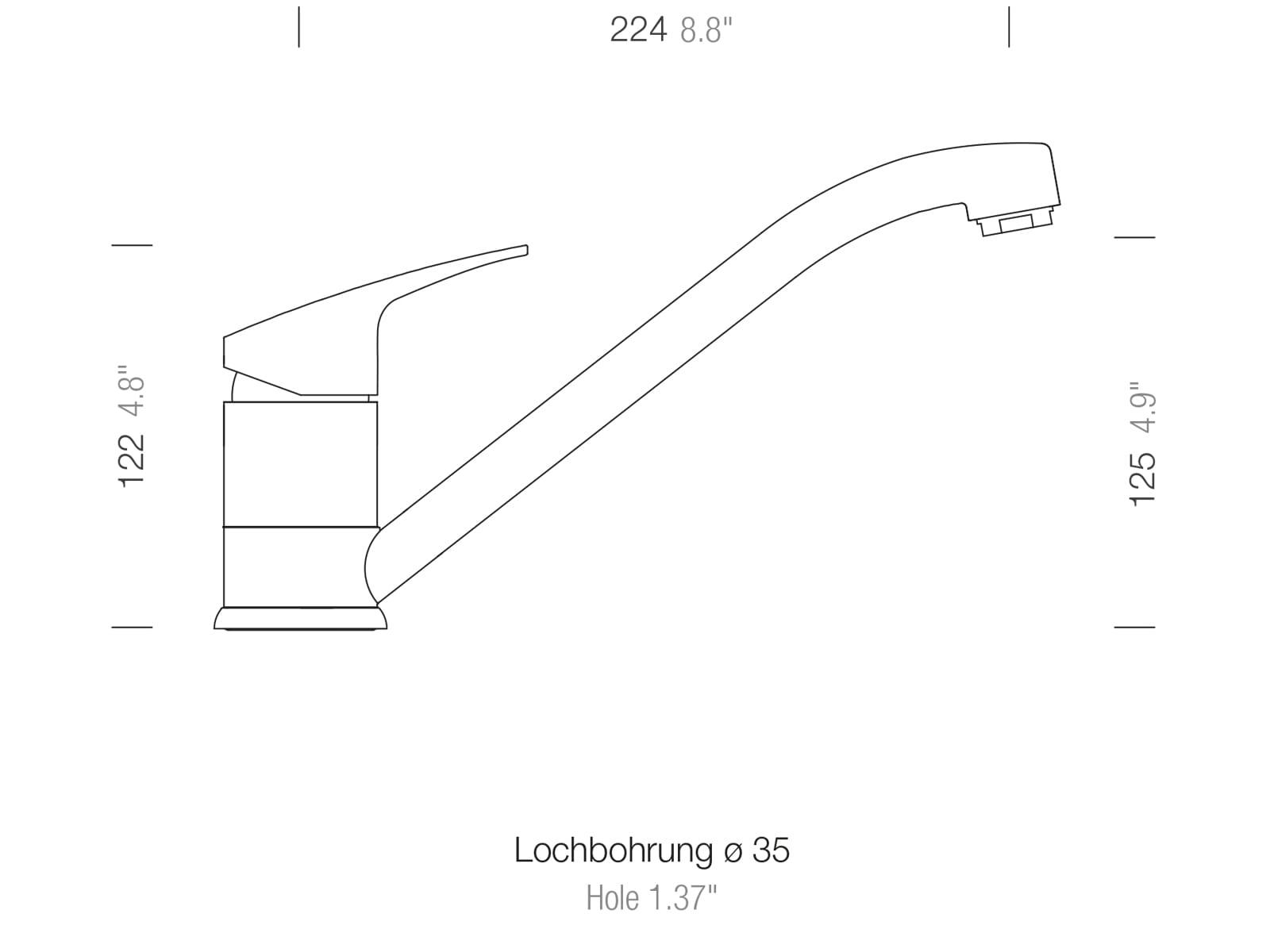 Schock Evinas Edelstahl Massiv - 577000EDM Hochdruckarmatur