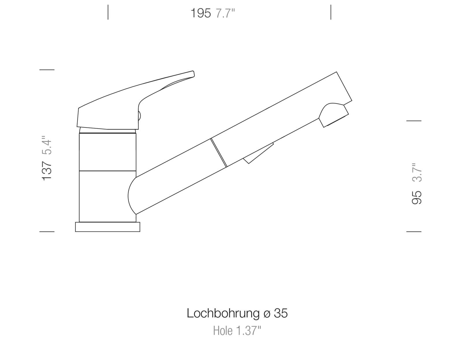 Schock Evinas Edelstahl Massiv - 577120EDM Hochdruckarmatur