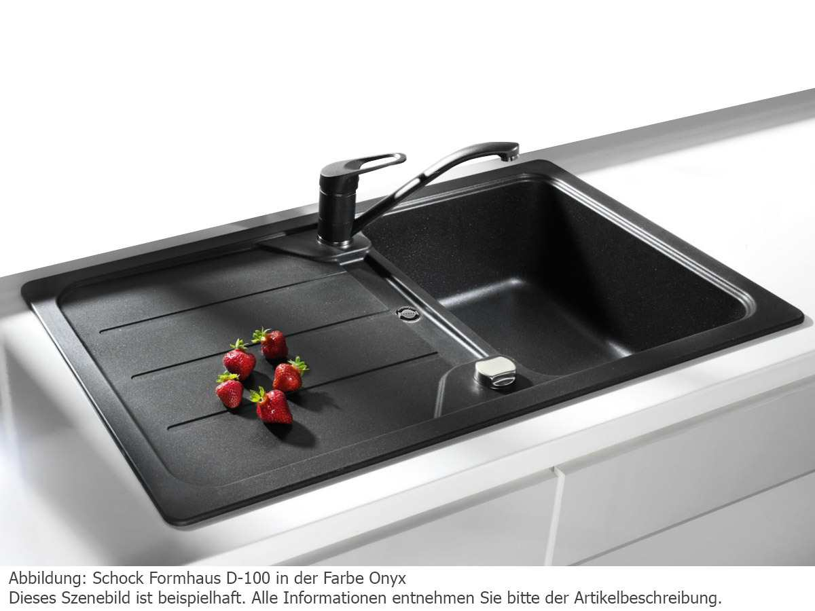 schock formhaus d 100 onyx granitsp le. Black Bedroom Furniture Sets. Home Design Ideas