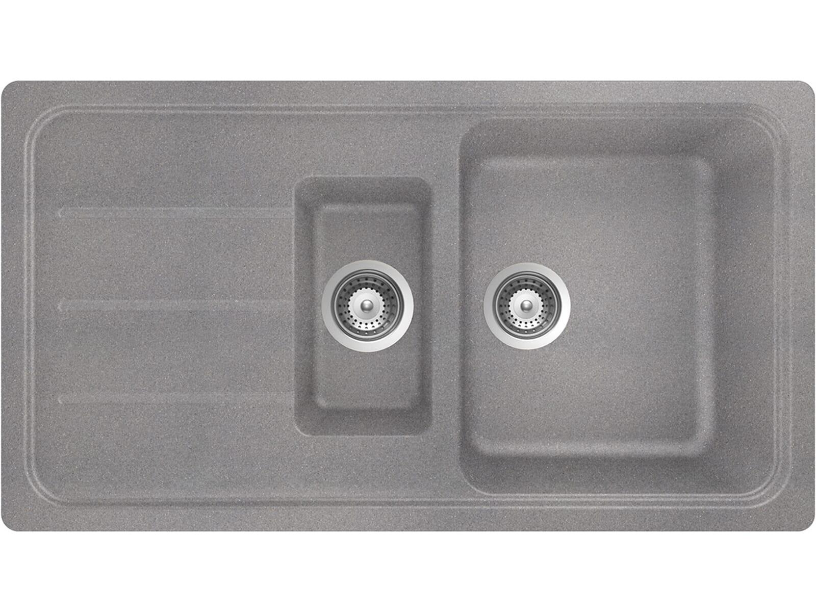 Schock Formhaus D-150 Croma Granit-Spüle Grau Küchenspüle Einbau ...
