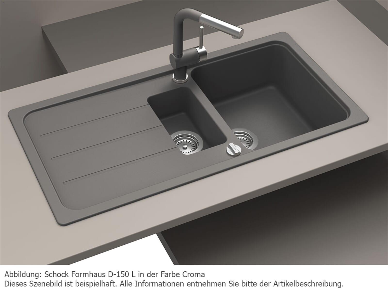 schock formhaus d 150 l croma granitsp le ebay. Black Bedroom Furniture Sets. Home Design Ideas