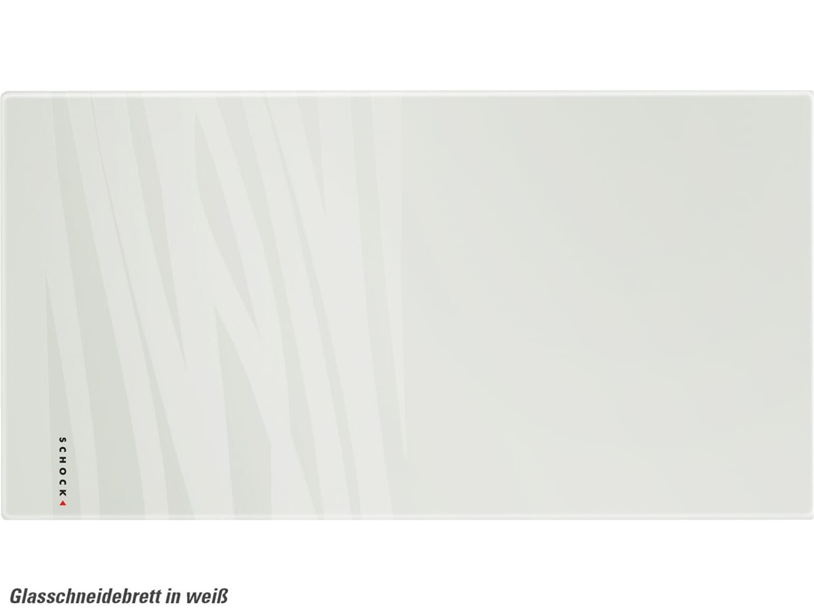 Schock 629045U Glasschneidebrett weiß