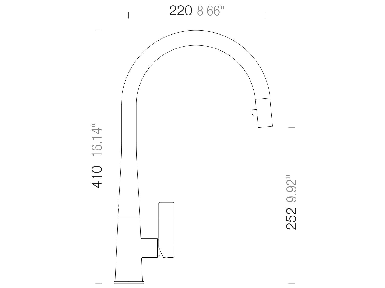 Schock Gota Schwarz - 521120S Hochdruckarmatur