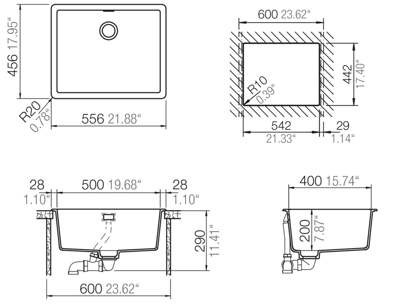 schock greenwich n 100 l a earth granitsp le ebay. Black Bedroom Furniture Sets. Home Design Ideas