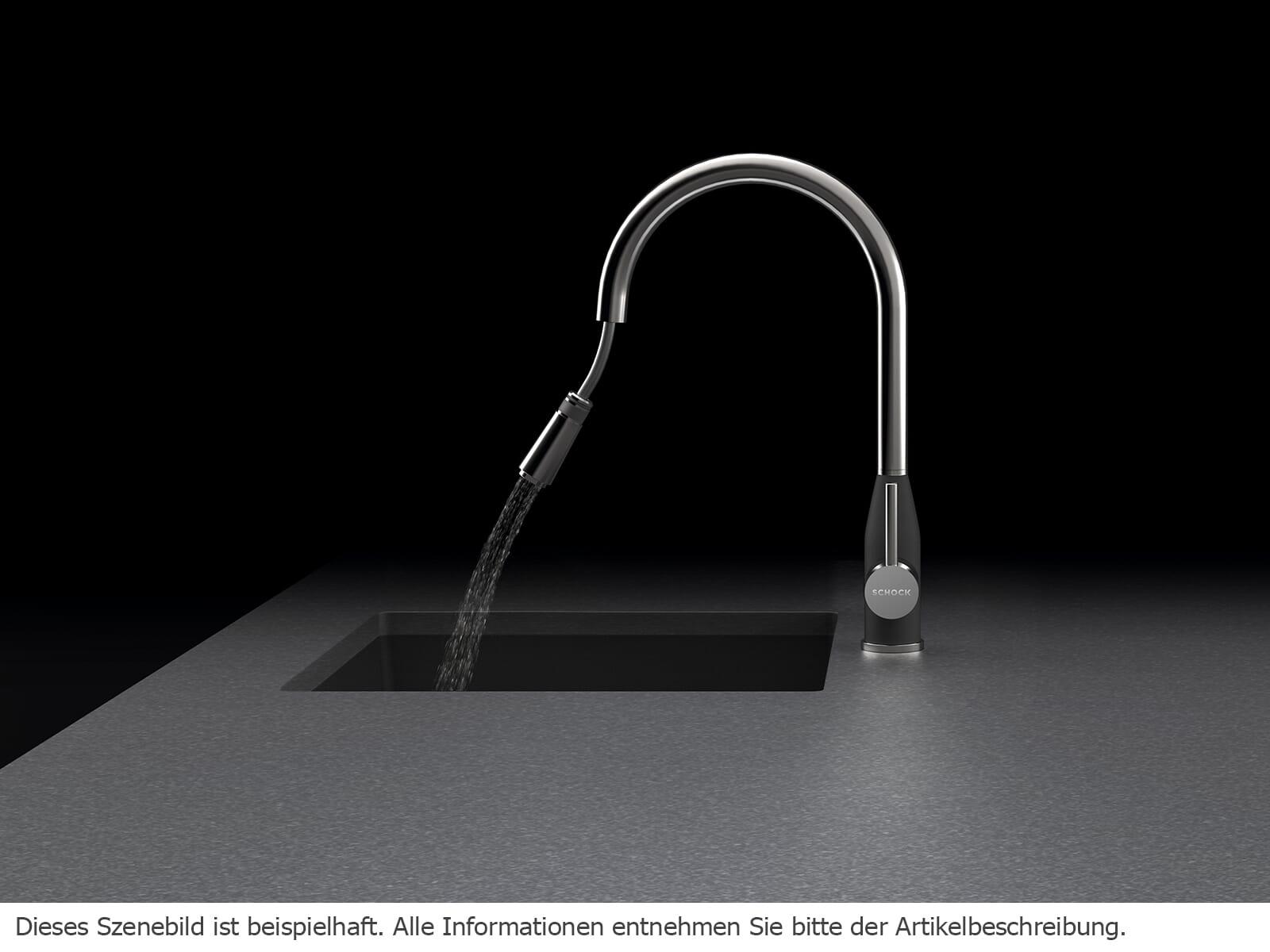 Schock Kavus Edelstahl massiv - 559120EDM Hochdruckarmatur