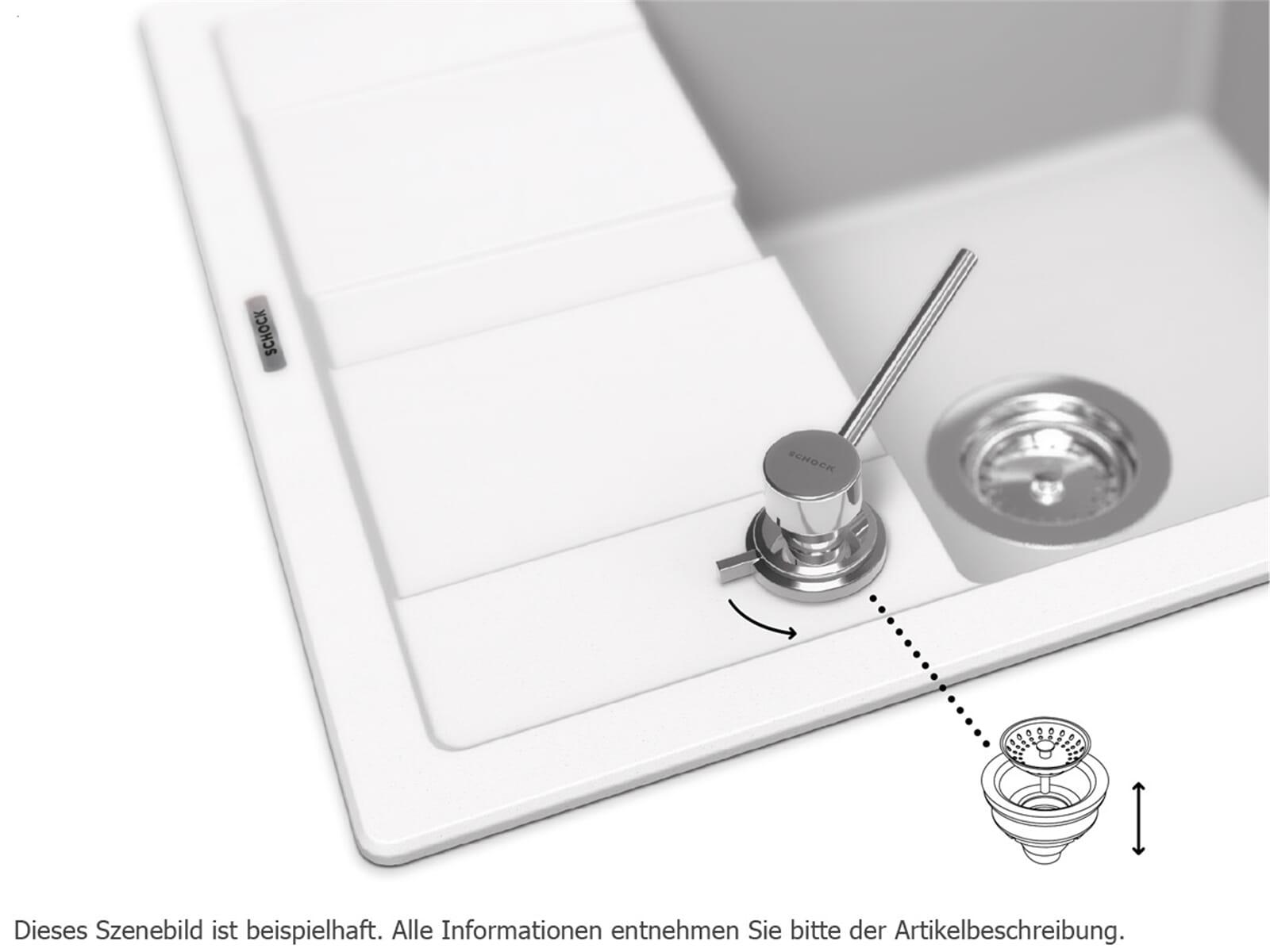 Schock Ladon Chrom Spülmittelspender-Drehexzenter-Kombination