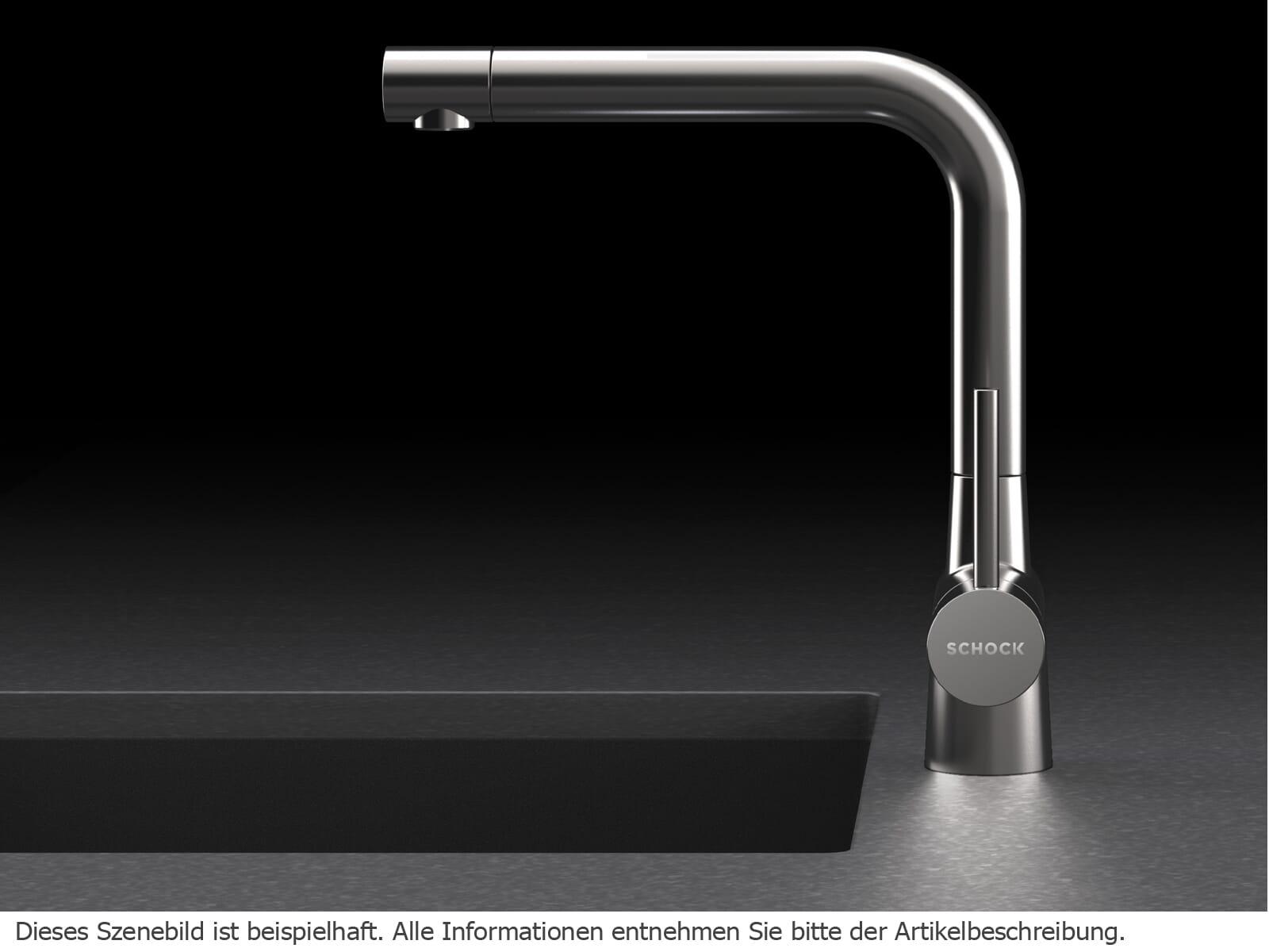 Schock Laios Edelstahl massiv 517000EDM  Hochdruckarmatur